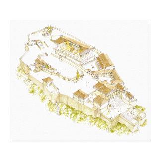 Acrópolis Atenas Impresión En Lienzo