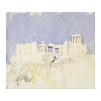Acropolis Athens 1994 Canvas Print