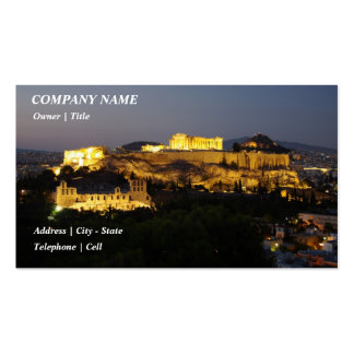 Acropolis – Athens Double-Sided Standard Business Cards (Pack Of 100)