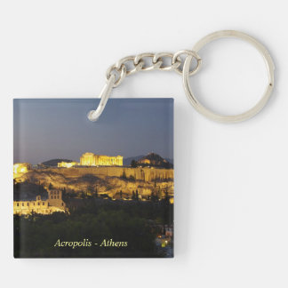 Acropolis – Athens Double-Sided Square Acrylic Keychain