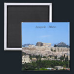 """Acropolis – Athens Magnet<br><div class=""""desc"""">View of the Acropolis of Athens one of the most famous landmarks in the world</div>"""