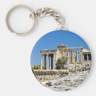 Acropolis Basic Round Button Keychain