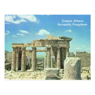 Acrópolis de Grecia, Atenas, Propyleum Postales