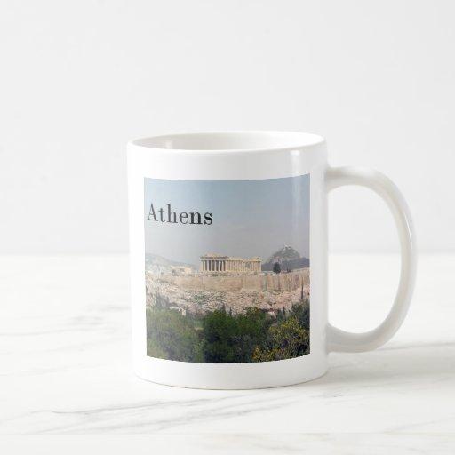 Acrópolis de Grecia Atenas Tazas De Café