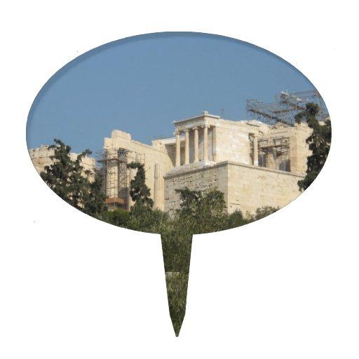 Acrópolis de la arquitectura de Atenas de Grecia a Decoraciones De Tartas