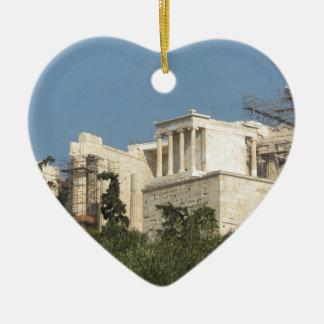 Acrópolis de la arquitectura de Atenas de Grecia Ornamento De Navidad