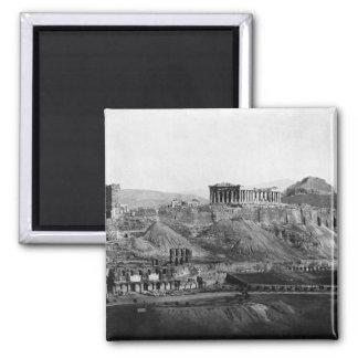 Acrópolis del ~ de la acrópolis de Atenas Grecia Imán Cuadrado