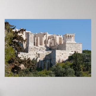 Acrópolis del poster de Atenas