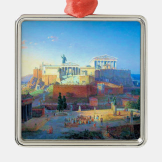 Acrópolis en Grecia Ornamento De Navidad