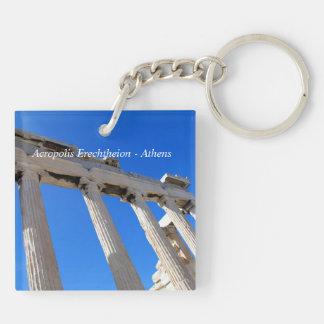 Acrópolis Erechtheion - Atenas Llavero Cuadrado Acrílico A Doble Cara