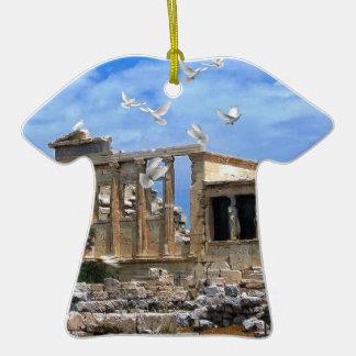 Acrópolis Erechtheum Atenas Grecia Ornamento De Navidad