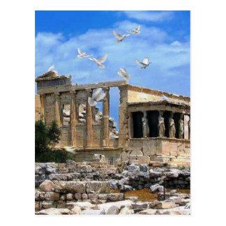 Acropolis Erechtheum Athens Greece Postcard