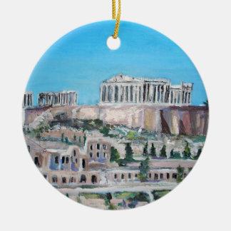 Acropolis, Greece Ceramic Ornament