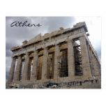 acropolis grey postcard
