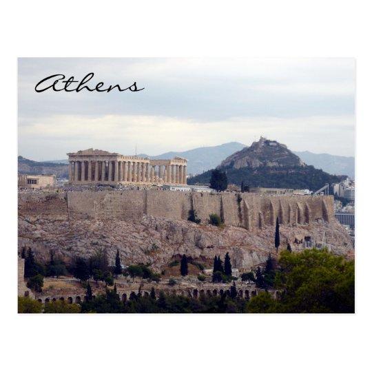 acropolis hill postcard