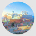 Acropolis in Greece Classic Round Sticker