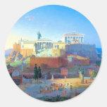 Acropolis in Greece Classic Round Sticker