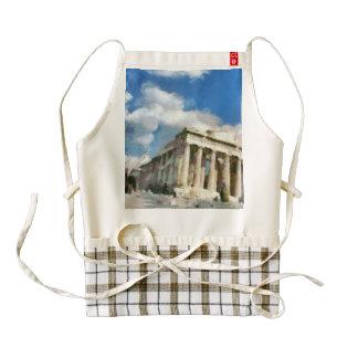 Acrópolis maravillosa en Atenas Delantal Zazzle HEART