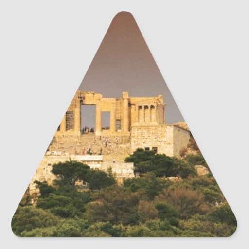 acropolis--of--athens--Aggelin--jpg Triangle Sticker