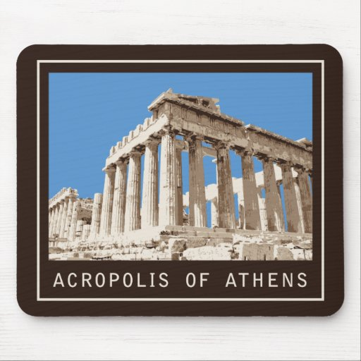 Acropolis of Athens Mouse Pads