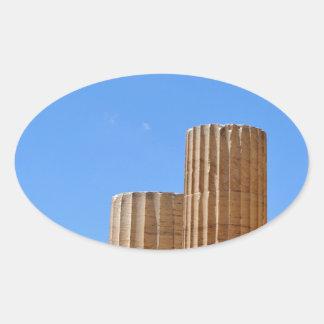 Acropolis Oval Sticker