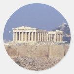 acrópolis pegatina redonda