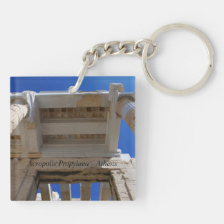 Acropolis Propylaea - Athens Square Acrylic Key Chain
