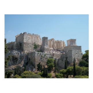 Acrópolis - una visión desde Areopagus Tarjeta Postal