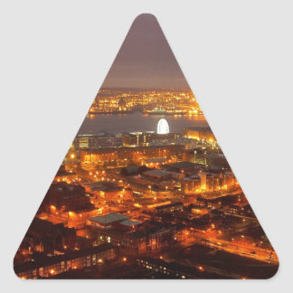 Across Liverpool to the River Mersey & Wirral Triangle Sticker