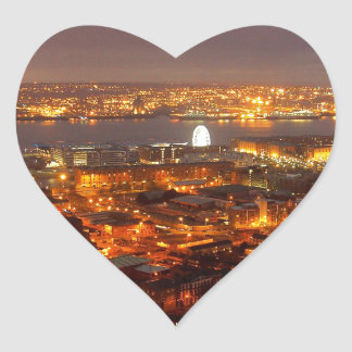 Across Liverpool to the River Mersey & Wirral Heart Sticker