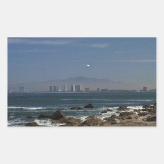 Across the Bay Rectangular Sticker