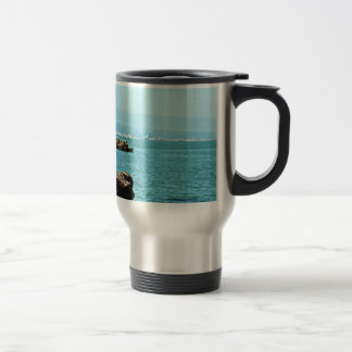 Across the bay travel mug
