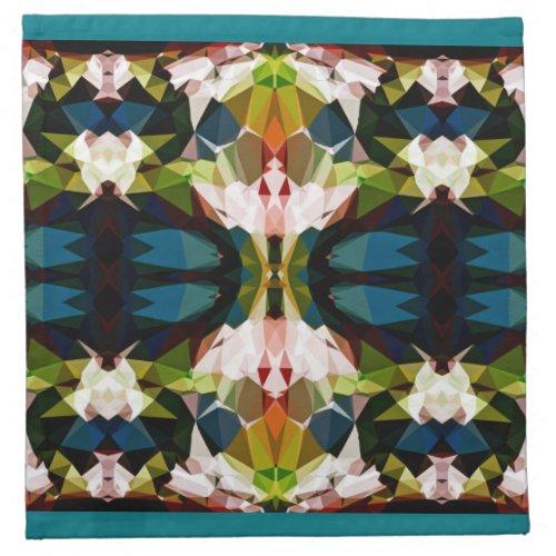 Across The Bridge Geometric Pattern Cloth Napkins