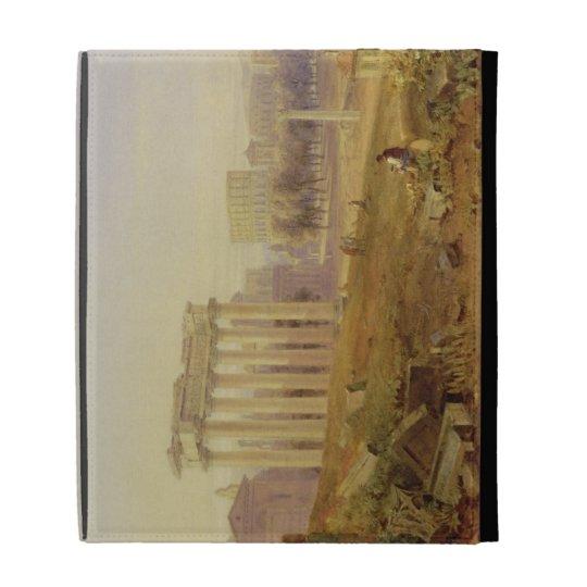 Across the Forum, Rome, 1828 (w/c and gouache over iPad Folio Cover