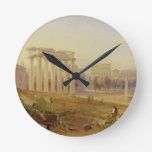 Across the Forum, Rome, 1828 (w/c and gouache over Round Clock