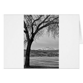 Across The Lake in Black and White Card