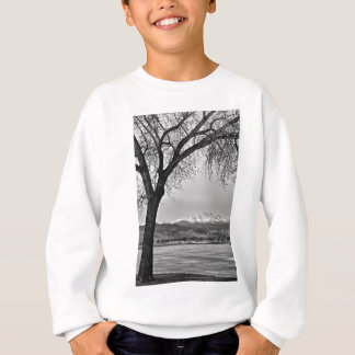 Across The Lake in Black and White Sweatshirt