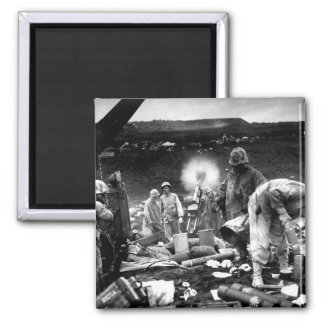 Across the litter on Iwo Jima's black_War Image 2 Inch Square Magnet