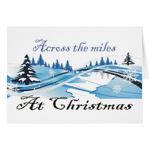 Across the Miles at Christimas Snowscape Card