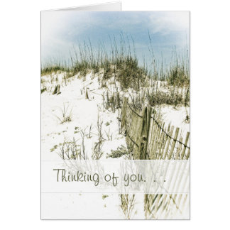 Across the Miles Beach Sand Fence Thinking of You Card