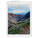Across the Miles, Big Horn Mountains in Wyoming Greeting Card