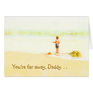 Across the miles Fathers Day Card