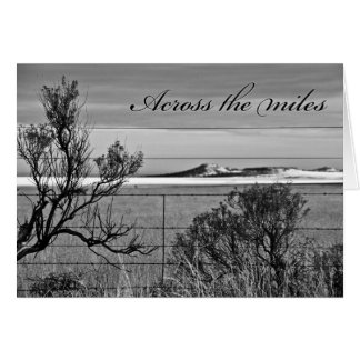 Across the miles -  Missing You Greeting Card