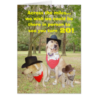 Across the miles on your birthday... greeting card
