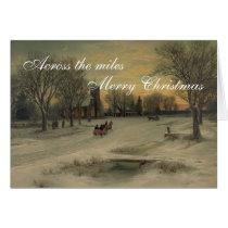 Across the Miles Vintage Christmas Card