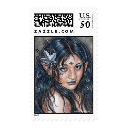Across The Night I Saw Your Face Postage Stamp