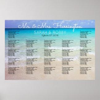 Across the Sea Horizon Wedding Seating Chart Poster