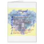 Acrostic de Abigail Tarjeta De Felicitación