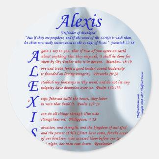 Acrostic de Alexis Pegatina Redonda