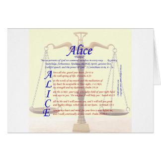 Acrostic de Alicia Tarjeta De Felicitación